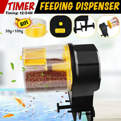 Automatic Fish Food Feeder Timer Pet Aquarium Tank Pond Dispenser +2 Feeding