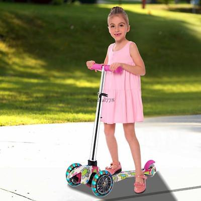 Kick Scooter Sport Portable Adjustable Height Ride Exercise Street Kid 3 Wheels