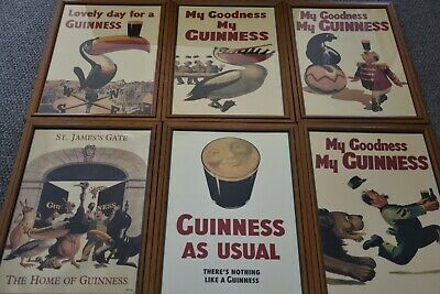 Guinness By GILROY framed posters set of 6