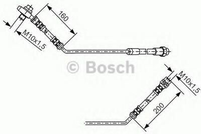 Brake Hose 1987476054 Bosch Hydraulic 34301165765 BH029 Top Quality Replacement