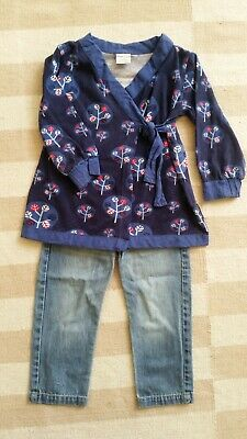 Polarn o. Pyret Wrap Top & Bella & Lace Jeans size 1 outfit