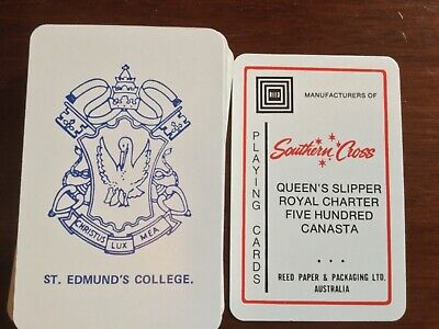St Edmunds College Canberra Playing Cards Queens Slipper Southern Cross Canasta