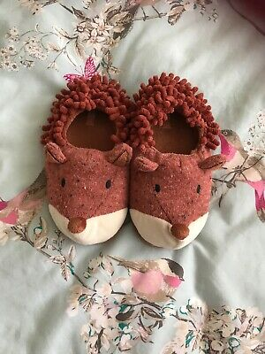 John Lewis Girls Fox Slippers Size12 Ex Cond