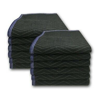 """High Quality Moving Blankets 12pack 72x80"""" Utilize Tape Rope Stretch Wrap Sturdy"""