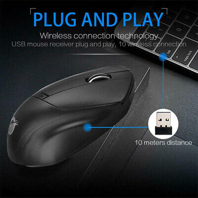 W11 2.4GHz Wireless Mouse 1600 DPI 4 Buttons Mute Silent Mice For Laptop PC C bg