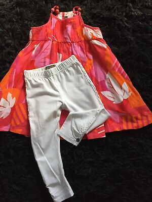 Girls Summer Outfit By Jeanbourget Age 3 & Free Matching Swimsuit (see Last Pic)