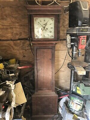 Antique Early Victorian Oak Longcase Grandfather Clock Blakeway Movemt Rushbury