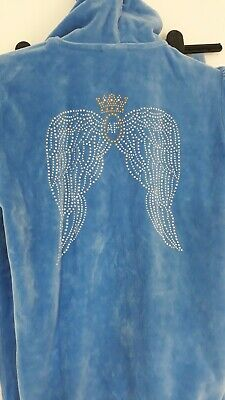 Girls Skyblue Angel Face Tracksuit Aged 10-11 VGC