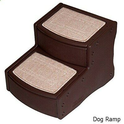 Pet Gear 2 Step Stairs  Chocolate Brown -  by ROSEWOOD - NQP*