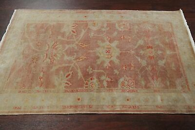 Vegetable Dye MAUVE MIST Oushak Egyptian Area Rug Antique Look Muted Floral 3x5