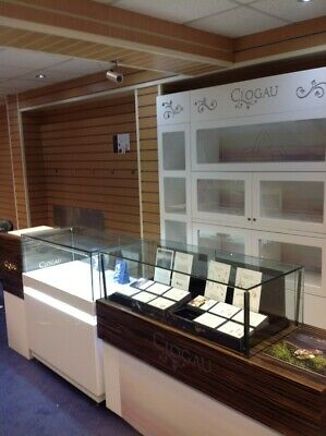 glass shop display cabinets used including Pandora units