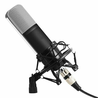 Condenser Studio Microphone Mic Shock Mount Screen XLR 3.5mm Cardiod Profesional