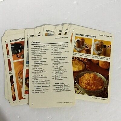 Betty Crocker's Step By Step Replacement Recipe Cards Cooking For Keeps 1975