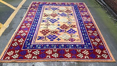 Vintage Art Deco Handwoven Carpet
