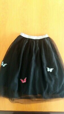 BNWOT Gorgeous girls River island XMAS party skirts butterflys / silver 11yrs