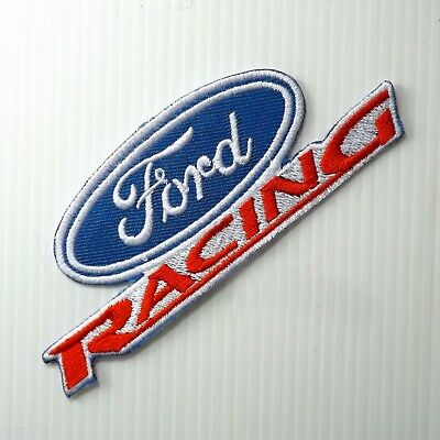 "4.3/4""x1 pc. ford emblem logo racing auto sports embroidered iron on sew patch"