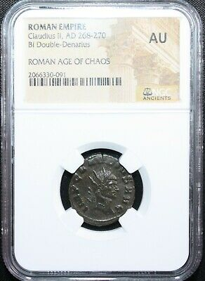 Ancient Roman Empire Coin Claudius II AD 268-270 NGC Graded AU