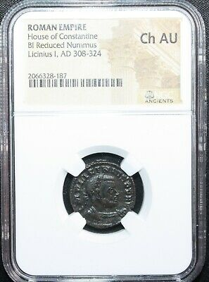 Ancient Roman Empire Coin Licinius I House of Constantine AD 308-324 NGC CH AU