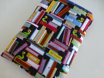 Multi  Books*Bookworms Book Buddy*Padded Cotton Fabric sleeve