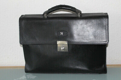 Assima -  Aktentasche Tasche Business - Leder Schwarz