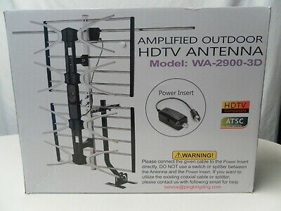 pingbingding Outdoor Digital HD TV Antenna with High Gain Amplifier  150 Mile