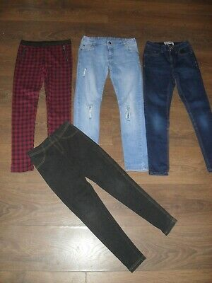 Girls Skinny Fit Jeans & Stretch Leggins 4 Pairs Altogether Fit Age 8-9 Years
