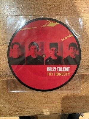"Billy Talent - Try Honesty  7"" Picture Disc Vinyl (Unplayed)"