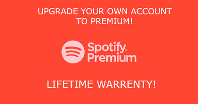 Spotify Premium Account - Upgrade On Your Own Account - Lifetime Warranty