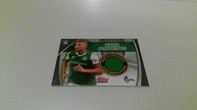 Topps Match Attax Scottish Spfl 2019/20 Rare Hibs Shirt Card Match Worn