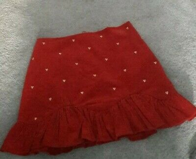 Marks And Spencer Girls Cord Skirt With HEARTS  11-12 YEARS   NEW