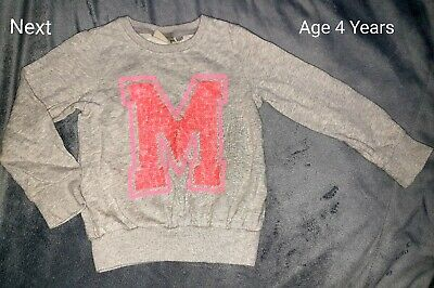 Next Girls Jumper Initial M Age 4 Years - Infant - Toddler