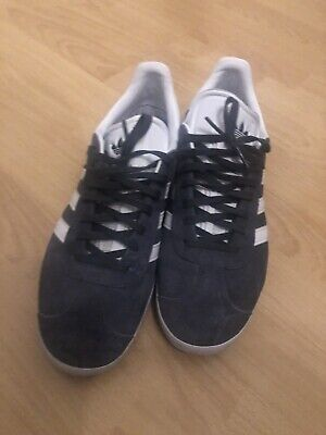 Adidas Mens Gazelle Trainers Suede With Rubber Sole Grey Footwear Uk 9.5