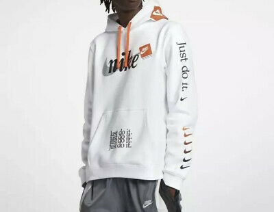 Details about Nike JDI Club Pullover Hoodie White Extra Large XL Just Do It Off White Vibes