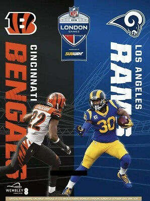 Cincinnati Bengals Vs Los Angeles Rams Programme Oct 27th 2019