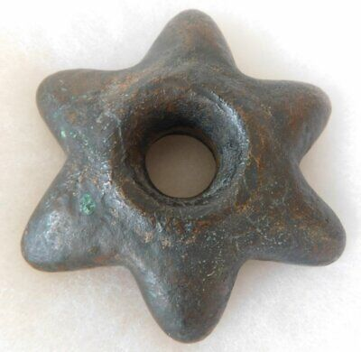 Pre Columbian Inca Copper Star Mace Head