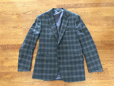 NWT $6K BRIONI Colosseo Gray Windowpane Jacket / Blazer Cashmere/Silk 50R