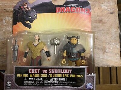 "HOW TO TRAIN YOUR DRAGON2 ERET vs SNOTLOUT 3"" ACTION FIGURE 2PK VIKING WARRIORS"