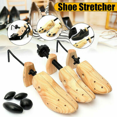 One Pair Women Men Wooden Adjustable 2-Way Shoe Stretcher Expander Shaper Tree