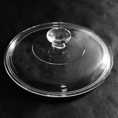 """Corning 8 3/4"""" Round Clear Glass Replacement Lid #6"""