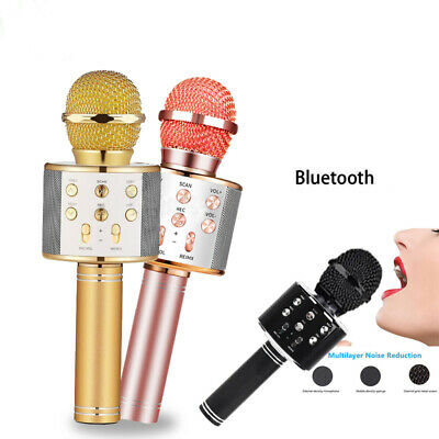 Handheld Wireless Bluetooth Karaoke Microphone USB KTV Player MIC Speaker NEW