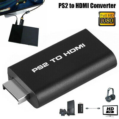 New PS2 to HDMI Video Converter Composite AV to HDMI PlayStation 2 HD Adapter