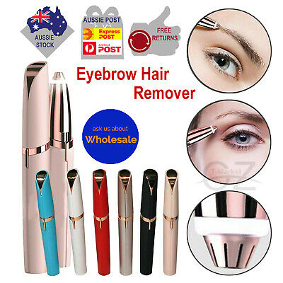 Women Painless Flawless Eyebrow Hair Face Remover Facial Lip Touch Epilator LED