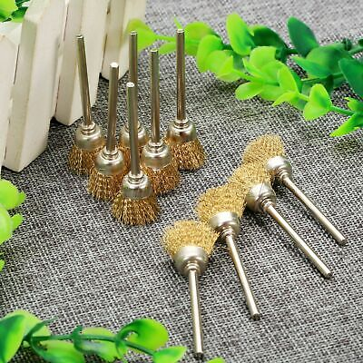 50pcs Brass Wire Cup Wheel Brush Brushes Grinder Polishing Power Rotary Tool