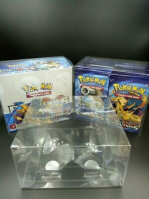 X1 Pokemon Booster Box Plastic Case Protective Protector for Sun/&Moon Display