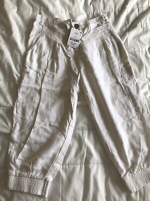 Girls Next Cropped Linen Type Trousers Age 9 BNWT