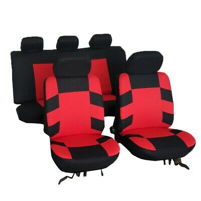 9 Set Car Seat Covers Universal Car Protector Front Rear 5 Headrests 3 Colors