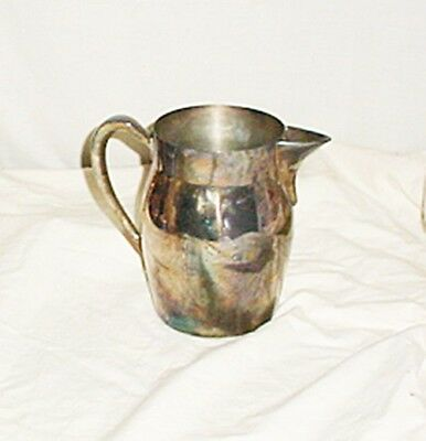 "Vintage Sheffield Silver Water Pitcher 7"" USA"