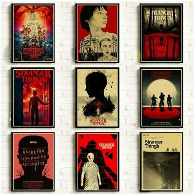 Stranger Things 2 Retro Posters Wall Stickers Home Decoration TV Series Prints