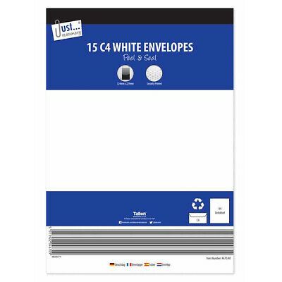 C4 White peel & seal Envelopes - White Large Big Peel & Seal Documents Secure