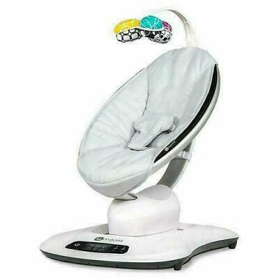 4Moms Mamaroo 4 Infant Baby Reclining Seat Rocker Bouncer Swinging, Classic Grey